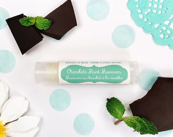 Lip Balm for Women Macaron Chaptsick Chocolate Mint Flavor Lip Gloss for Girls Lip Balms Gift for Her Gift for Teens Gifts Under 10 Natural