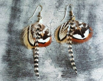 Pair of earrings small feathers