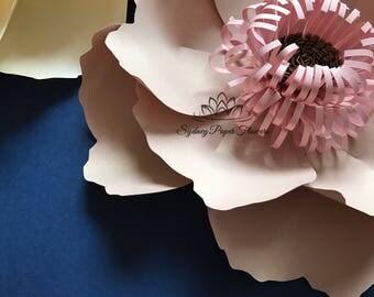 VIDEO tutorial small PEONY Flower template/Paper flower pattern/pdf svg paper flower/diy paper flower/flower backdrop/Paper flower wall
