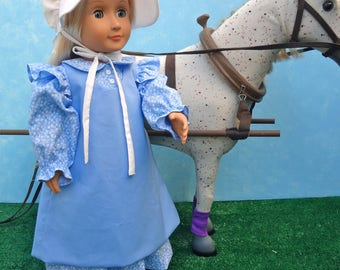 Pioneer Costume - 18 inch Doll Clothes
