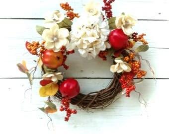 Fall Wreath, Fall Door Hanger, Autumn Wreath, Pomegranate Wreath, Etsy Fall Wreath, Etsy Fall Door Hanger, Front Door Wreath, Fall Decor