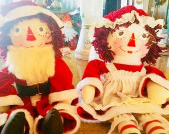 Raggedy Ann Claus & Raggedy Andy Claus