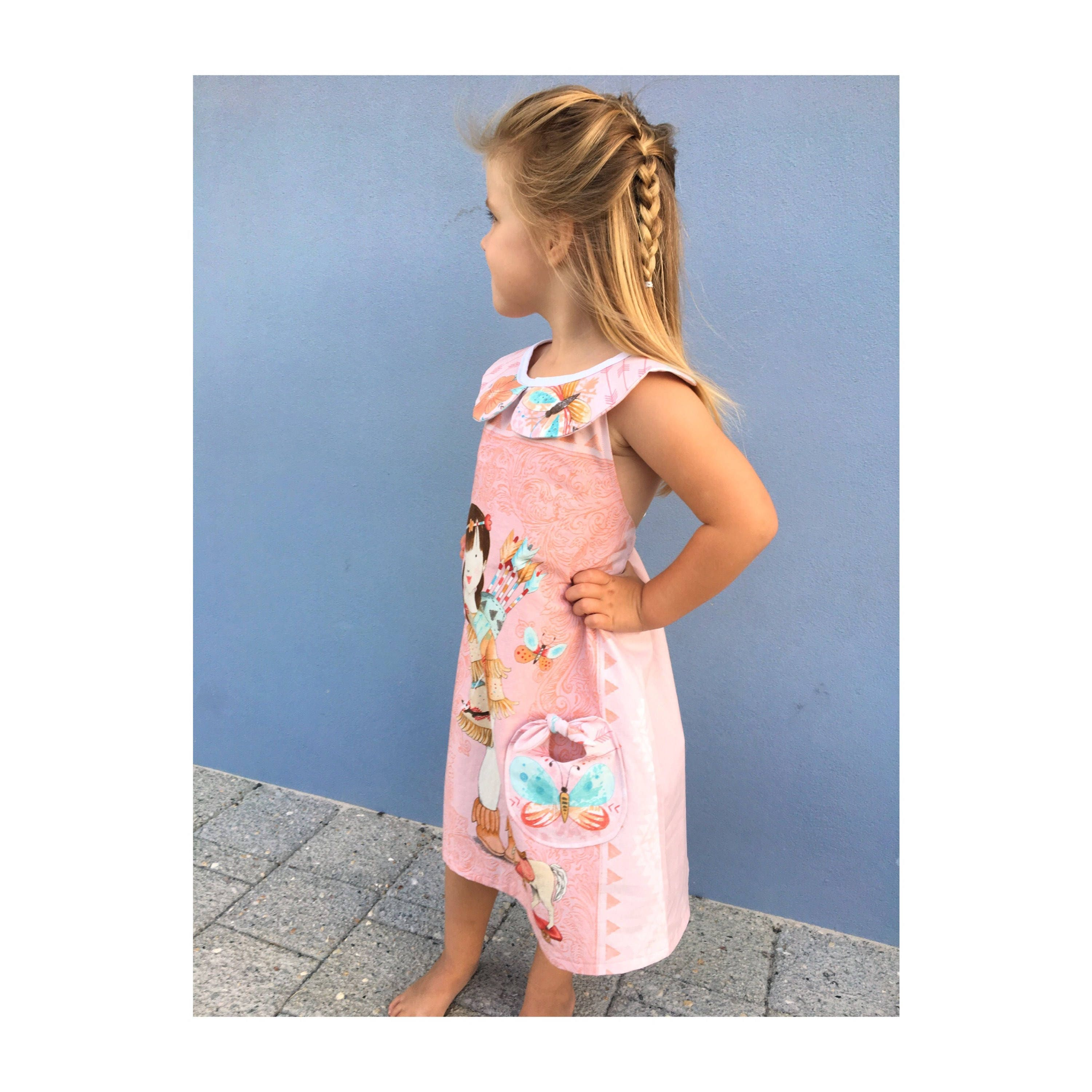 Girl\'s summery dress, One of a Kind Dress, Native Dress, Unique ...