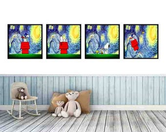 Snoopy  wall  art  prints  that your  child will love