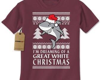 Dreaming Of A Great White Christmas Mens T-shirt