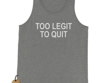 Too Legit To Quit Jersey Tank Top for Men
