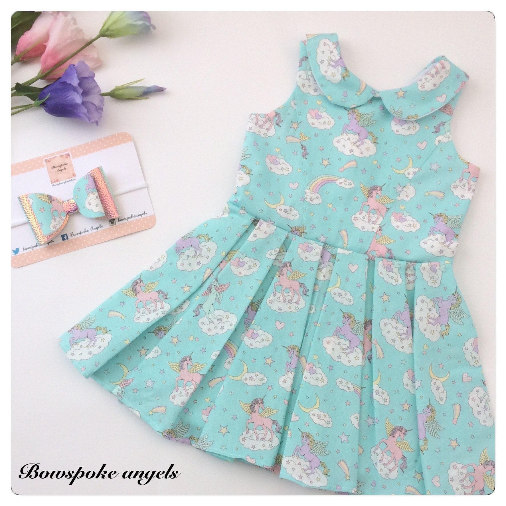 Unicorn Dress - Girls Dress - Girls Party Dress - Kids Clothes ...