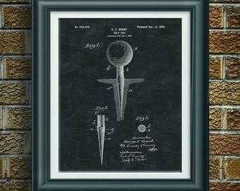 Vintage Golf Patent Print Golf Art Golf Decor Golf Artwork Golf Wall Art  Gift For Dad