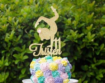 Any Name Cake topper, Custom gymnastic cake topper, gymnastic, cake topper