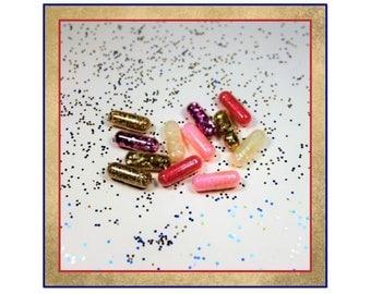 Diva Glitter Pills, Glitter, Party Glitter, Christmas Glitter, Sparkle Glitter, Magic Glitter Pill, White Elephant Gift, Office Party Gag