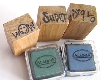 For Teacher handmade Cheering Stamp Set Bravo super Wow