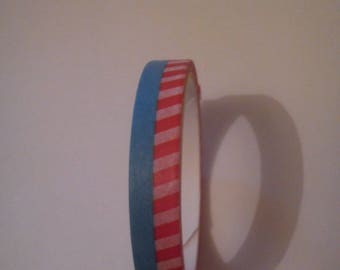 2 paper masking tape blue red striped