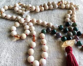 Abundance, Prosperity, Expansion, Healing New Moon Mala