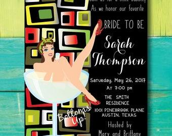Bridal Shower Invitation Template, Bridal Shower Invite, Instant Download, Wedding Shower Invitation Printable bachelorette party invite
