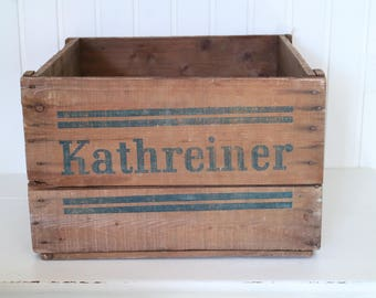 "Wooden Crate cargo Box chest ""Kathreiners"" malt coffee"