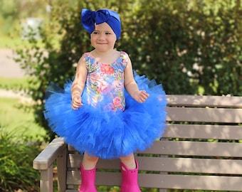 Royal blue tutu, blue tutu, full tutu, first birthday tutu, smash cake tutu, photography prop, fourth of july tutu