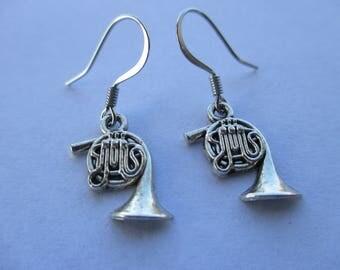 Tuba Silvertone  Metal Small Dangle Earrings, Musical jewelry, Rocker earrings,  music instrument earrings, Instrument jewelry