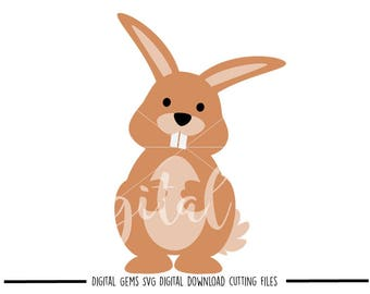 Bunny Rabbit svg / dxf / eps / png files. Digital download. Compatible with Cricut and Silhouette machines. Small commercial use ok.