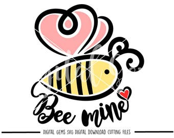 Bee mine svg / dxf / eps / png files. Digital download. Compatible with Cricut and Silhouette machines. Small commercial use ok.
