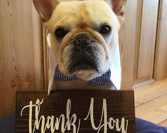 Rustic Wedding Thank you  Sign  Wood Sign Rustic Wedding Decor  Wood Sign Country Wedding Prop Gifts Wedding Favor Table Thank you Sign