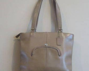 Coach Skinny Tote In Putty  (Tabac ?) Leather- Made In NYC At 'The Factory'- GUC