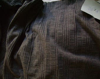 NO. 201-FABRIC COTTON STRETCH POLYAMIDE - TEAL GRAY BLUE COLOR