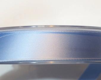 Double faced luxury 16 mm, light blue satin ribbon