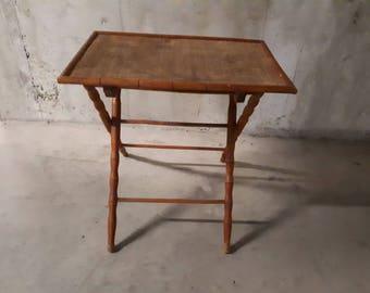 30s folding side table