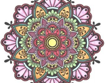 10 mandalas coloring - #1 pouch