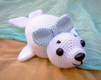 Amigurumi Harp Seal Pup