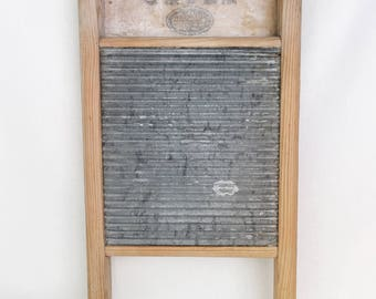 Antique Baby Globe / Walter Woods Limited washboard