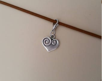 Heart Charm / Travelers Notebook Charm / Erin Condren Charm / TN Charm / Planner Charm / Midori Charm / Zipper Charm / Purse Charm