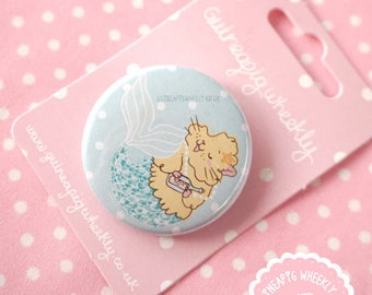 Mermaid Guinea Pig Pin Badge