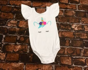 Unicorn Leotard, Girls Leotard, Custom Leotard, Toddler Leotard, Little Girl Leotard, Dance Clothes, Dance Outfit, Dance Leotard, Gymnastics
