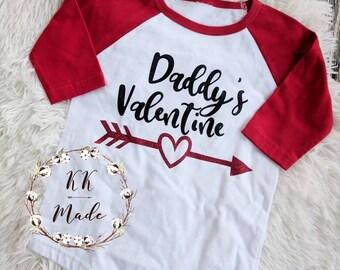 Girls Valentine's day shirt, toddler girls Valentine day shirt, daddy's valentine shirt, girls Valentine shirt, Valentine shirt, heart shirt