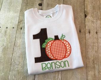 Pumpkin birthday outfit - Fall birthday shirt - 1st birthday outfit boys - First birthday shirt for boys - Pumpkin first birthday