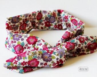 Headband hair headband ° ° ° ° Japanese fabric headband floral ° flexible wire