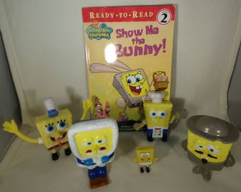 Collectible Sponge bobs and book