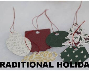 Christmas Gift Present Paper Tag Label