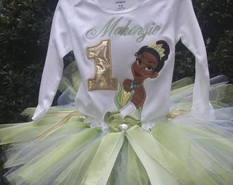 Princess Tiana 1st Birthday Outfit Princess Tiana Birthday Outfit Princess Tiana 1st Birthday Shirt Birthday Dress