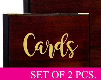 Wedding Cards Decal, Wedding Card Box, Wedding Signs, Wedding Decor, Wedding Decals, Cards Vinyl Sticker, Cards decal, Box Sticker