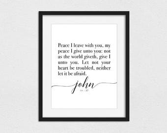 John 14:27 Printable // Instant Download // Printing Services Available // For God So Loved The World // LDS Print // Christian Print