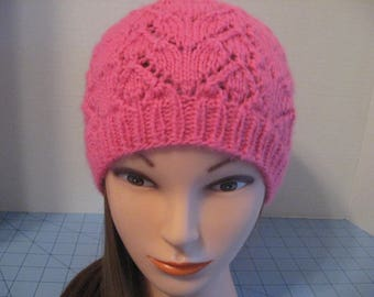 Valentine Lace Hearts Hat, Winter Hat, Spring Hat, Hand Made in the USA