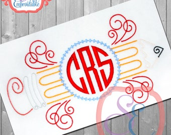 MONOGRAM PENCIL Embroidery Design For Machine Embroidery