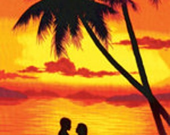 Sunset Couple Beach Towel