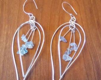 Fluorite Leaf Drop Earrings