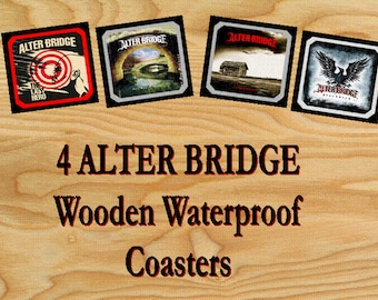 ALTER BRIDGE 4 Wooden Waterproof Drink Coasters 9 X 9 cm album covers themes