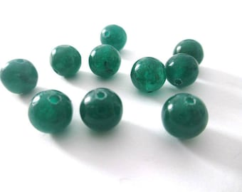 10 pearls dark green natural jade 8mm (24)