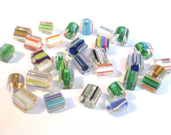 Set of 30 wire 8 glass beads a 14 m