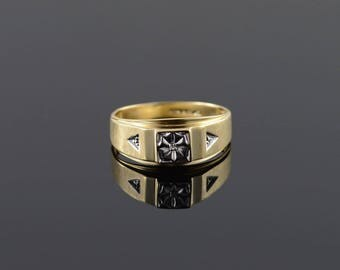 10k Genuine Diamond Ring Gold